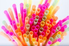Colorful Cocktail Tubes Royalty Free Stock Photos
