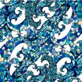 Free Abstract Blue Colorful Mosaic Square Wave Royalty Free Stock Images - 34783469
