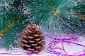 Free Decoration For The Christmas Tree Is A Pine Cone. Royalty Free Stock Image - 34786956