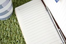 Free Notebook With Pen Royalty Free Stock Images - 34782569