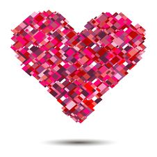 Free Vector Heart  For Valentines Day Design. Stock Photography - 34783562