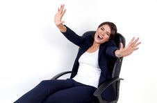 Free Business Woman Full Of Emotions Stock Image - 34786581