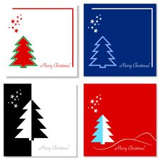 Set Of Christmas Cards Stock Photography