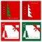 Free Set Of Christmas Cards Stock Photo - 34787910