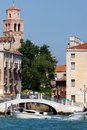 Free Picturesque Venetian Canals With Motor Boats And Bridge In Venic Royalty Free Stock Photos - 34796308