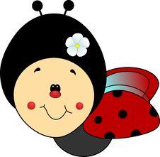 Free Handdrawn Sweet Ladybird Stock Photo - 34790330
