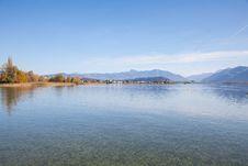Lake Zurich, Autumn Stock Photo