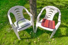Two Empty Chairs Stock Photography