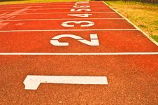 Free Sport Running Track Royalty Free Stock Photo - 34794535