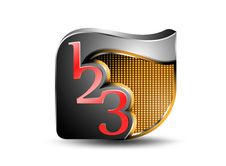 Free Glossy Number Icon Royalty Free Stock Photos - 34799968