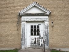 Door Of Abandoned House Royalty Free Stock Photography