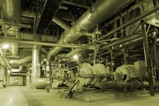 Free Pipes Inside Energy Plant Royalty Free Stock Photography - 3480677