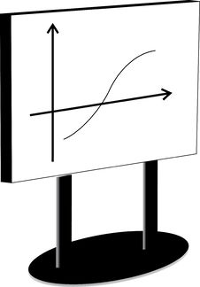 Free White Board With Graph Stock Images - 3480694