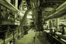 Free Pipes Inside Energy Plant Stock Images - 3480764