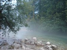 Free Bohinska Stream Evening Royalty Free Stock Photos - 3481698