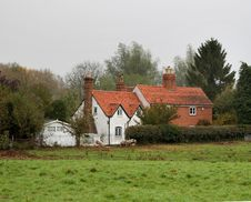 English Rural Cottages Stock Photos