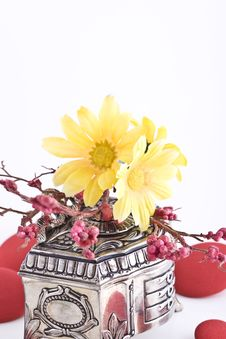 Composition With Flowers. Royalty Free Stock Photography