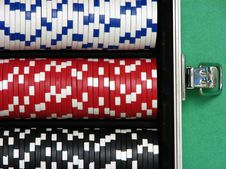 Poker Chips Stock Photo