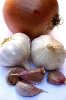Onion And Garlic Royalty Free Stock Photo