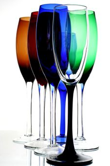 Free Colored Champagne Glasses Royalty Free Stock Images - 3482899