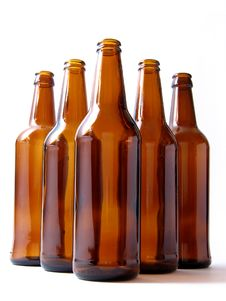 Five Bottles Royalty Free Stock Images