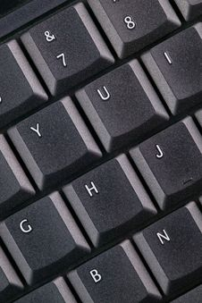 Free Black Keyboard - Macro Royalty Free Stock Photo - 3483525