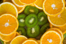 Free Kiwi And Oranges Slices Stock Photo - 3485010