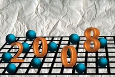 Free New Year 2008 Royalty Free Stock Image - 3485206