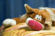 Free Big Tabby Red-haired Cat - Toy Stock Photo - 3485260