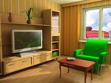 Free Modern Interior 3d Stock Photos - 3485533