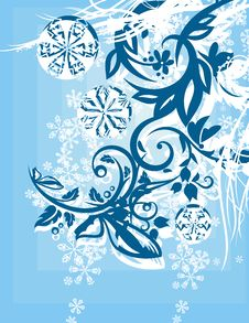 Free Ornamental Winter Background Royalty Free Stock Image - 3485576