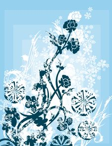 Free Ornamental Winter Background Royalty Free Stock Photography - 3485587