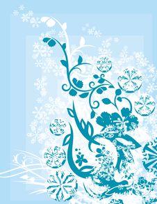Free Ornamental Winter Background Stock Image - 3485621