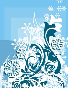 Free Ornamental Winter Background Stock Photography - 3485642