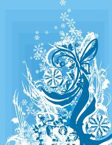 Free Ornamental Winter Background Royalty Free Stock Photo - 3485645