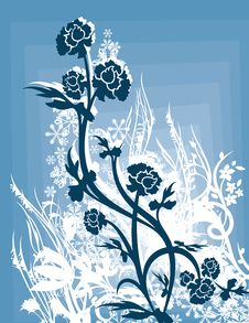 Free Ornamental Winter Background Royalty Free Stock Images - 3485689
