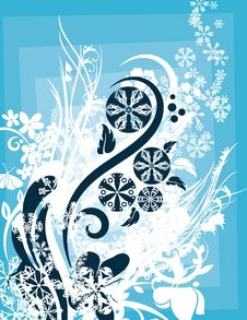 Free Ornamental Winter Background Stock Photography - 3485722