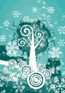 Free Winter Tree Background Stock Photography - 3485832