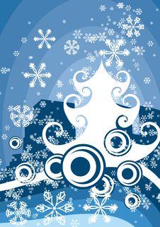 Free Winter Tree Background Royalty Free Stock Photos - 3485878