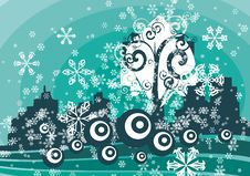 Free Winter Tree Background Royalty Free Stock Images - 3485909