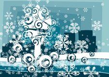 Free Winter Tree Background Stock Image - 3485921