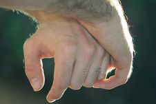 Free Hands Embraced Expect Royalty Free Stock Image - 3486716