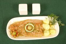Free Salmon Dish Royalty Free Stock Photography - 3488907
