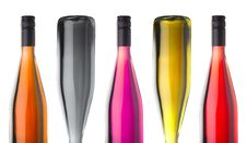 Free Colorful Wine Bottles On Stock Images - 3488914