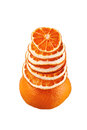 Free Decorative Tree From Orange Slices On A White Background Royalty Free Stock Image - 34801736