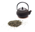 Free Green Tea And A Black Japanese Teapot Stock Images - 34803004