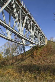 Free Railway Bridge Over The River Stock Photography - 34802122
