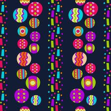 Free Seamless Pattern With Bright Abstract Shapes Royalty Free Stock Images - 34805489