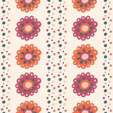Free Seamless Pattern With Flowers Stock Image - 34805531