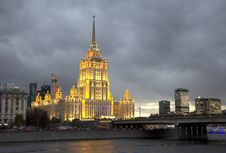 Russia. One Of The High-rise Buildings In Moscow. Stock Photography